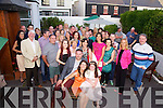 Catherine Curran from Loher seated front center celebrated her 40th birthday with family and friends at the Butler Arms Hotel and later in the Waterville Lake Hotel.