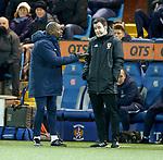 12.02.2020 Kilmarnock v Rangers: Kilmarnock manager Alex Dyer questions the fourh official