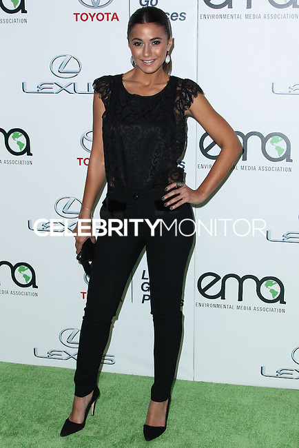 BURBANK, CA - OCTOBER 19: Actress Emmanuelle Chriqui arrives at the 23rd Annual Environmental Media Awards held at Warner Bros. Studios on October 19, 2013 in Burbank, California. (Photo by Xavier Collin/Celebrity Monitor)