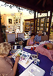 Painting class for adults at the Sawdust Festival in Laguna Beach