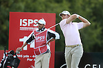 Peter Uihlein drives at the 14th hole during the 3rd round of ISPS Handa Wales Open 2013<br /> Celtic Manor Resort<br /> <br /> 31.08.13<br /> <br /> ©Steve Pope-Sportingwales