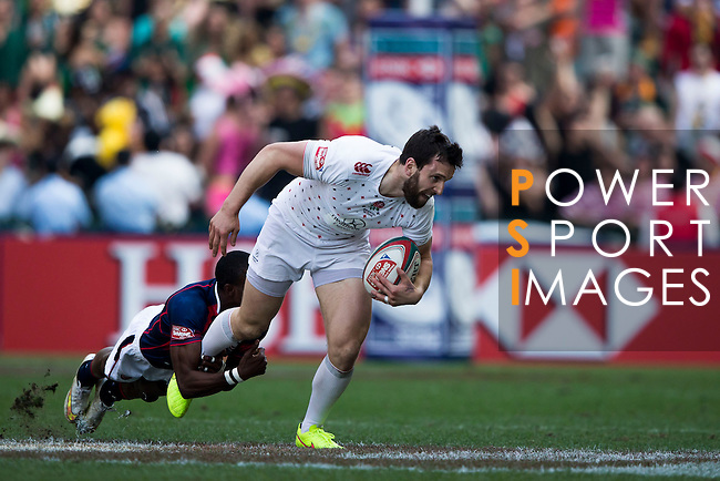 United States vs England during the HSBC Sevens Wold Series match of the Cathay Pacific / HSBC Hong Kong Sevens at the Hong Kong Stadium on 28 March 2015 in Hong Kong, China. Photo by Victor Fraile / Power Sport Images