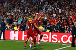 Liverpool's FC Rhian Brewster Liverpool's FC Trent Alexander-Arnold during UEFA Champions League match, Final Roundl between Tottenham Hotspur FC and Liverpool FC at Wanda Metropolitano Stadium in Madrid, Spain. June 01, 2019.(ALTERPHOTOS/Manu R.B.)