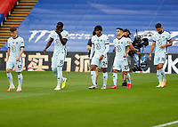 7th July 2020; Selhurst Park, London, England; English Premier League Football, Crystal Palace versus Chelsea; Reece James, Christian Pulisic, Billy Gilmour, Kurt Zouma, Reece James, Christian Pulisic and Olivier Giroud of Chelsea walk onto the pitch from the tunnel before kick off