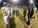 Lawndale, CA 11/11/16 - unidentified West Torrance player(s), Ryan Shoda (West Torrance #55), Steven Almada (Lawndale #77), Edward Vaki (Lawndale #9), Aaron Kiefer (Lawndale #34)
