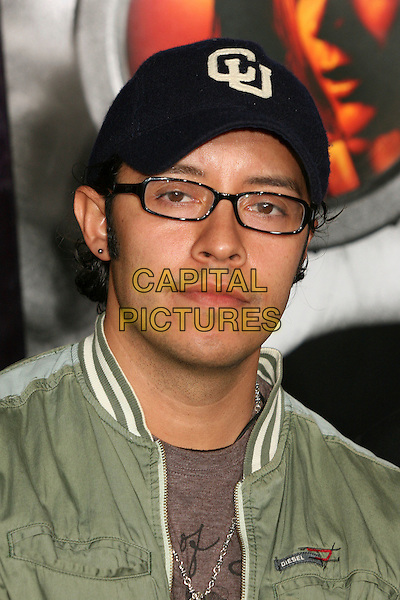 "EFREN RAMIREZ.""Disturbia"" Los Angeles Premiere at Grauman's Chinese Theatre, Hollywood, California, USA..April 4th, 2007.headshot portrait glasses baseball cap hat.CAP/ADM/BP.©Byron Purvis/AdMedia/Capital Pictures"