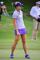 Lexi Thompson (USA) watches her putt on 8 during round 2 of  the Volunteers of America Texas Shootout Presented by JTBC, at the Las Colinas Country Club in Irving, Texas, USA. 4/28/2017.<br /> Picture: Golffile | Ken Murray<br /> <br /> <br /> All photo usage must carry mandatory copyright credit (&copy; Golffile | Ken Murray)