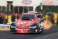 May 15, 2015; Commerce, GA, USA; NHRA funny car driver Cruz Pedregon during qualifying for the Southern Nationals at Atlanta Dragway. Mandatory Credit: Mark J. Rebilas-USA TODAY Sports
