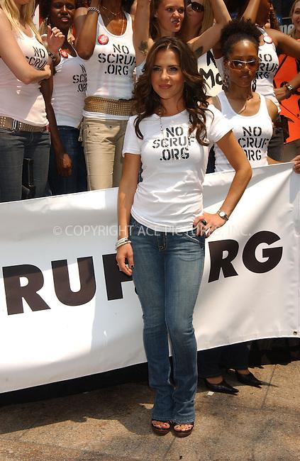 WWW.ACEPIXS.COM . . . . . ....July 11, 2006, New York City. ....Kelly Monaco and Brooke Burke lead protest rally On Behalf Of NoScruf. ......Please byline: KRISTIN CALLAHAN - ACEPIXS.COM.. . . . . . ..Ace Pictures, Inc:  ..(212) 243-8787 or (646) 769 0430..e-mail: info@acepixs.com..web: http://www.acepixs.com
