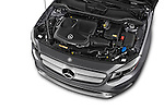 Car Stock2015 Mercedes Benz GLA 250 4Matic Exclusiefpakket 5 Door SUV Engine high angle detail view