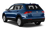 Car pictures of rear three quarter view of a 2019 Volkswagen Tiguan Confrontline-business  5 Door SUV angular rear