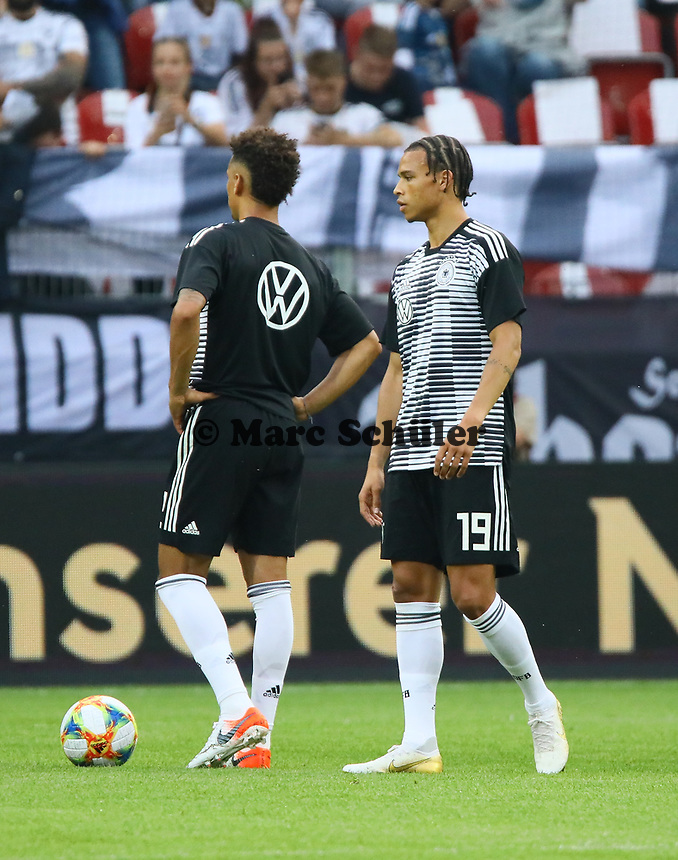 Thilo Kehrer (Deutschland Germany), Leroy Sane (Deutschland Germany) - 11.06.2019: Deutschland vs. Estland, OPEL Arena Mainz, EM-Qualifikation DISCLAIMER: DFB regulations prohibit any use of photographs as image sequences and/or quasi-video.