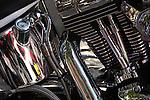 Harley Davidson motorcycle engine study.