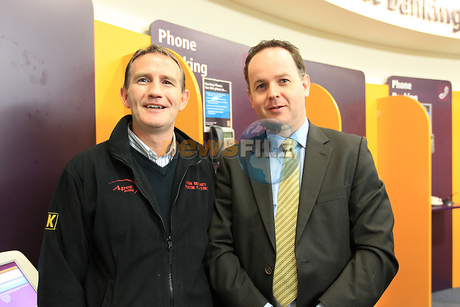John Delaney Niall Durnin at the AIB business seminar held in the AIB branch in Dyer Street..Picture Fran Caffrey www.newsfile.ie..