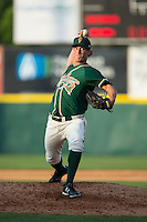Greensboro Grasshoppers relief pitcher Drew Steckenrider (20) in action against the Hickory Crawdads at L.P. Frans Stadium on May 6, 2015 in Hickory, North Carolina.  The Crawdads defeated the Grasshoppers 1-0.  (Brian Westerholt/Four Seam Images)