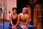 Colleen Zenk & Janine Divita - Anticleia & Penelope - Dress Rehearsal of Odyssey - The Epic Musical starring Colleen Zenk, Eddie Korbich, Josh A. Davis, Emma Zaks and Janine Divita and cast on October 21, 2011 at the American Theatre of Actors, New York City, New York. (Photo by Sue Coflin/Max Photos)
