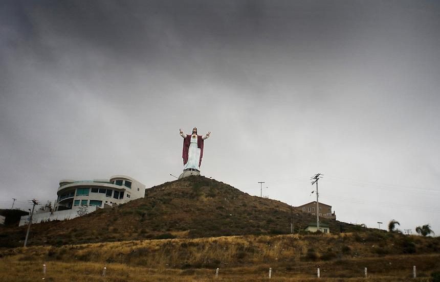 On route to Ensenada from Tijuana. Press tour around Baja California Norte