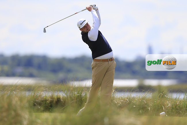 Cian Geraghty (Laytown &amp; Bettystown) during the 2nd round of the East of Ireland championship, Co Louth Golf Club, Baltray, Co Louth, Ireland. 03/06/2017<br /> Picture: Golffile | Fran Caffrey<br /> <br /> <br /> All photo usage must carry mandatory copyright credit (&copy; Golffile | Fran Caffrey)