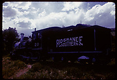 3/4 rear fireman's-side view of RGS #20 displayed at Colorado Railroad Museum.<br /> RGS  Golden, CO  ca. 1970