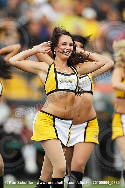 September 6, 2010; Hamilton, ON, CAN; Hamilton Tiger-Cats cheerleaders. CFL football: Labour Day Classic - Toronto Argonauts vs. Hamilton Tiger-Cats at Ivor Wynne Stadium. The Tiger-Cats defeated the Argonauts 28-13. Mandatory Credit: Ron Scheffler.