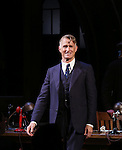 """John Slattery during the Broadway Opening Night performance curtain call bows for """"The Front Page""""  at the Broadhurst Theatre on October 20, 2016 in New York City."""