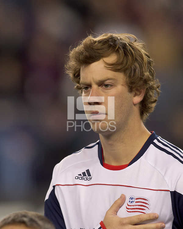 New England Revolution forward Zack Schilawski (15). In a Major League Soccer (MLS) match, the New England Revolution tied the Portland Timbers, 1-1, at Gillette Stadium on April 2, 2011.