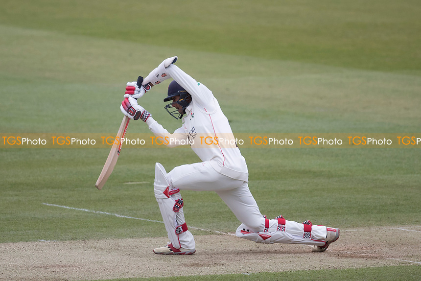 Haseeb Hameed of Lancashire CCC plays a check drive through extra cover for a boundary during Middlesex CCC vs Lancashire CCC, Specsavers County Championship Division 2 Cricket at Lord's Cricket Ground on 12th April 2019