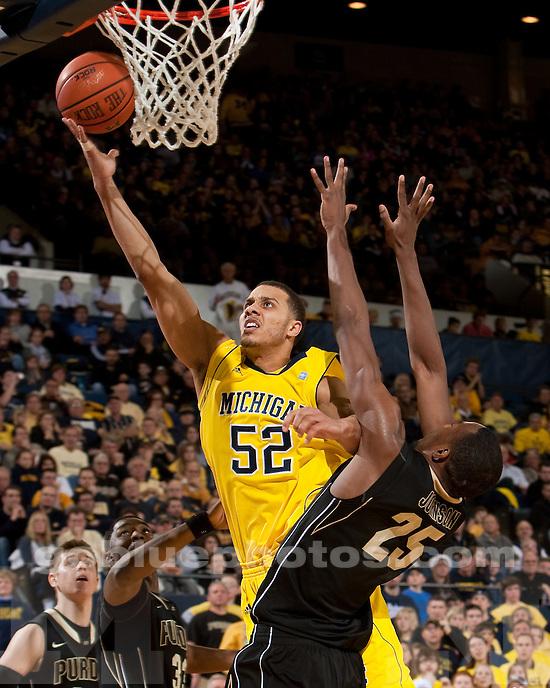 University of Michigan men's basketball 80-57 loss to #12 Purdue at Crisler Arena in Ann Arbor, MI, on December 28, 2010.