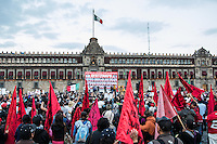 Thousands march from 4 different places in the city to down town Mexico City.   People demands from the government to explain what happened to the 43 students that went missing on September 26, 2014  from Raùl Isidro Burgos Rural teachers college of Ayotzinapa in Iguala Guerrero. This day marks four months since the disappearing. Mexico City, Mexico. Jan 26, 2015