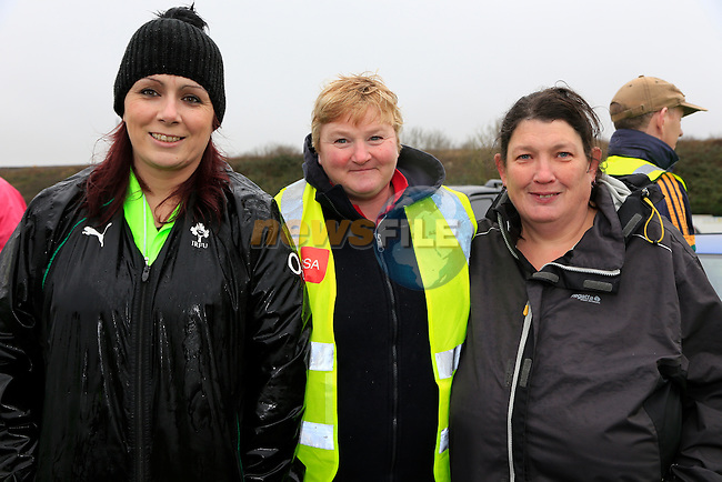 Jenny Smith, Kathy Myles and Sarah Tracey<br /> Meath Local Sports Partnership and ISC have linked up with RTE's Operation Transformation to hold a national walk day<br />  Picture: Fran Caffrey www.newsfile.ie