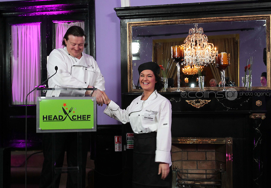 21/06/'11 Chef Conrad Gallagher of TV3's Celebrity Head Chef series pictured with contestant, Geraldine O'Callaghan in his  'Dining Room' Restaurant...NO REPRODUCTION FEE PIC...Picture Colin Keegan, Collins, Dublin.
