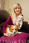 "Stacey Wallace, Ballinorig, Tralee, with the help of the Nose Of Tralee 2015 ""Ginger"" has  raised over €4,400 for Animal Help Net Kerry with the selling of Charity calenders . Pictured with one of the Rescued puppies looking for adoption"