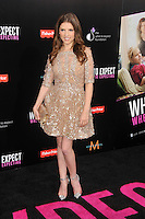 Anna Kendrick at the What To Expect When You're Expecting premiere at Grauman's Chinese Theatre in Hollywood, California. May 14, 2012. © mpi35/MediaPunch Inc.