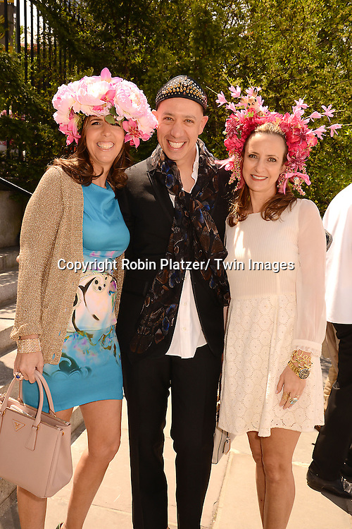 Liz Lange, Robert Verdi and Jane Wagman attend the 32nd Annual Frederick Law Olmsted Awards Hat Luncheon given by The Central Park Conservancy on May 7,2014 in Central Park in New York City, NY USA.