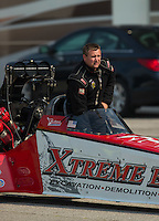 Sep 25, 2016; Madison, IL, USA; NHRA top fuel driver Kyle Wurtzel during the Midwest Nationals at Gateway Motorsports Park. Mandatory Credit: Mark J. Rebilas-USA TODAY Sports