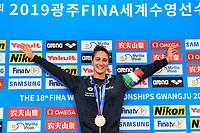 QUADARELLA Simona ITA Italy Gold Medal <br /> Women's 1500m Freestyle <br /> Gwangju South Korea 23/07/2019<br /> Swimming <br /> 18th FINA World Aquatics Championships<br /> Nambu University Aquatics Center <br /> Photo © Andrea Staccioli / Deepbluemedia / Insidefoto