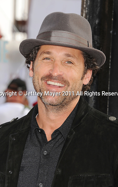 """HOLLYWOOD, CA - SEPTEMBER 25: Patrick Dempsey  attends Premiere Of """"Iris"""" - A Journey Into The World Of Cinema By Cirque du Soleil at the Kodak Theatre on September 25, 2011 in Hollywood, California."""