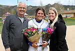 Kacie Freudenberger at the Sophomore Day celebration after the first game of the Western Nevada College softball doubleheader on Saturday, April 30, 2016 at Pete Livermore Sports Complex. Photo by Shannon Litz/Nevada Photo Source