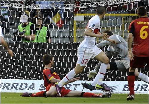 03 06 2011  But Yilmaz scores for Turkey . Belgium versus Turkey.  Euro 2012 qualification game