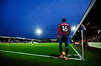 Scunthorpe United's Hakeeb Adelakun prepares to take a corner<br /> <br /> Photographer Chris Vaughan/CameraSport<br /> <br /> The EFL Sky Bet League One - Scunthorpe United v Bristol Rovers - Saturday 11th November 2017 - Glanford Park - Scunthorpe<br /> <br /> World Copyright &copy; 2017 CameraSport. All rights reserved. 43 Linden Ave. Countesthorpe. Leicester. England. LE8 5PG - Tel: +44 (0) 116 277 4147 - admin@camerasport.com - www.camerasport.com