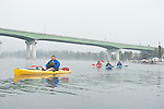 Kayak tour of the Willamette Falls area in Oregon City.