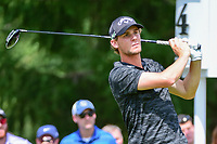 Thomas Pieters (BEL) watches his tee shot on 4 during Sunday's final round of the World Golf Championships - Bridgestone Invitational, at the Firestone Country Club, Akron, Ohio. 8/6/2017.<br /> Picture: Golffile | Ken Murray<br /> <br /> <br /> All photo usage must carry mandatory copyright credit (&copy; Golffile | Ken Murray)