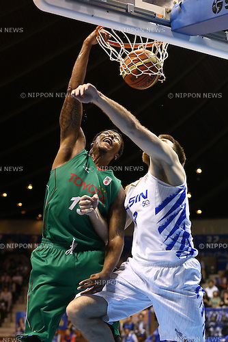Xavier Gibson (Toyota),<br /> MAY 25, 2015 - Basketball : <br /> National Basketball League &quot;NBL&quot; Playoff FINALS 2014-2015 <br /> GAME 3 match between <br /> TOYOTA ALVARK TOKYO 69-81 AISIN SeaHorses Mikawa<br /> at 2nd Yoyogi Gymnasium, Tokyo, Japan. <br /> (Photo by Shingo Ito/AFLO SPORT)