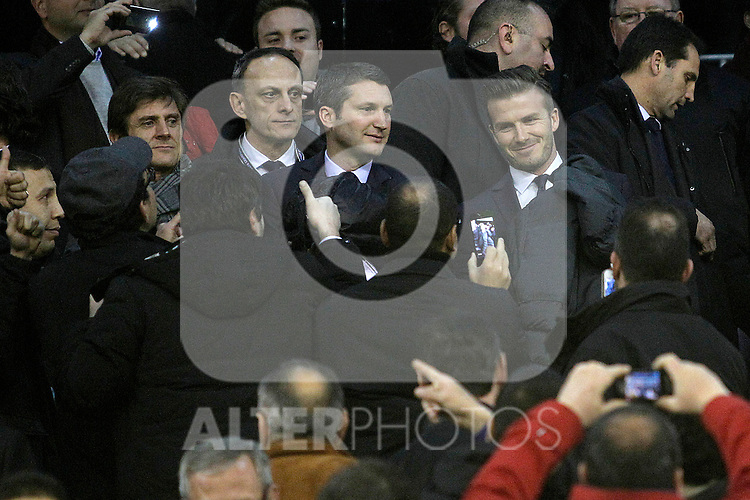 Paris Saint-Germain's David Beckham during Champions League 2012/2013 match.February 12,2013. (ALTERPHOTOS/Acero)