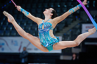 September 9, 2015 - Stuttgart, Germany -  NITA RIVKIN of Israel performs during AA qualifications at 2015 World Championships.