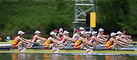 Lucerne, SWITZERLAND<br /> <br /> Womens Quadruple Sculls CHN W4X. 2016 European Olympic Qualifying Regatta, Lake Rotsee.<br /> <br /> Sunday  22/05/2016<br /> <br /> [Mandatory Credit; Peter SPURRIER/Intersport-images]