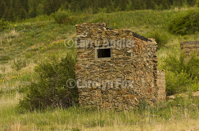 Stone outhouse in the Colorado Rockys