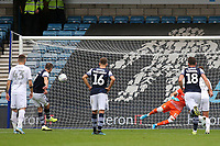 Jed Wallace scores Millwall's opening goal from the penalty spot during Millwall vs Leeds United, Sky Bet EFL Championship Football at The Den on 5th October 2019