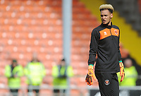 Blackpool's Christoffer Mafoumbi during the pre-match warm-up <br /> <br /> Photographer Kevin Barnes/CameraSport<br /> <br /> The EFL Sky Bet League One - Blackpool v Gillingham - Saturday 4th May 2019 - Bloomfield Road - Blackpool<br /> <br /> World Copyright © 2019 CameraSport. All rights reserved. 43 Linden Ave. Countesthorpe. Leicester. England. LE8 5PG - Tel: +44 (0) 116 277 4147 - admin@camerasport.com - www.camerasport.com