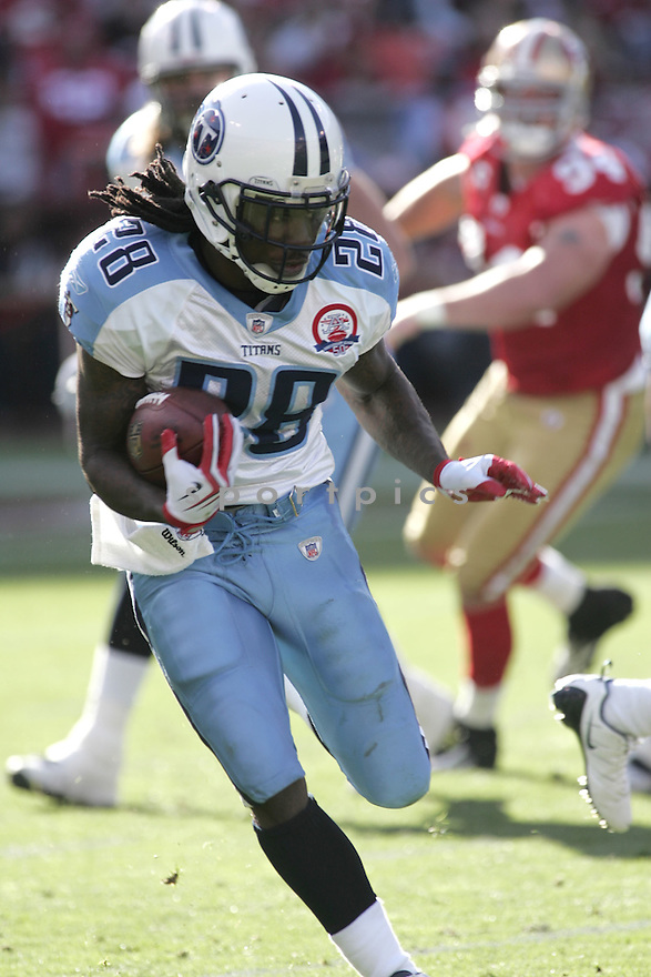CHRIS JOHNSON, of the Tennessee Titans  in action  during the Titans game against the San Francisco 49ers  on November 8, 2009 in San Francisco, CA...The Titans beat the 49ers  34-27
